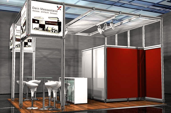 Messestand mit System